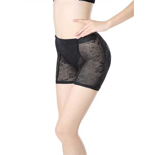 Lace Breathable Lifter Middle Waist Slimming Bodyshaper Black