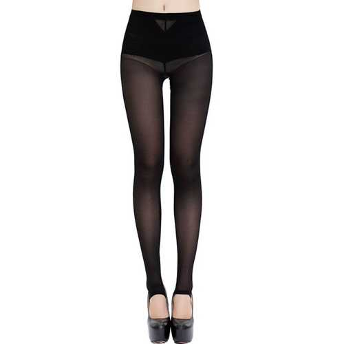Sexy Fashion Anchored Leggings Lifter Slimming Shaper Black