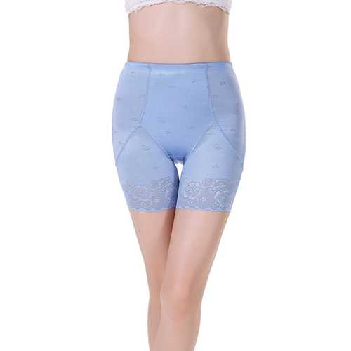 Postpartum Middle Waist Lace Bodyshaper Blue