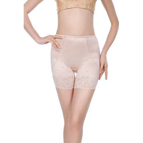 Postpartum Middle Waist Lace Bodyshaper Apricot