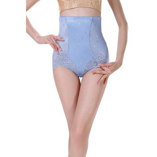 High Waist Postpartum Lifter Waistline Shapewear Blue