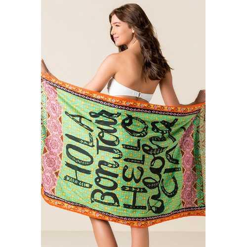 Hola Boujour Beach Towel Blanket