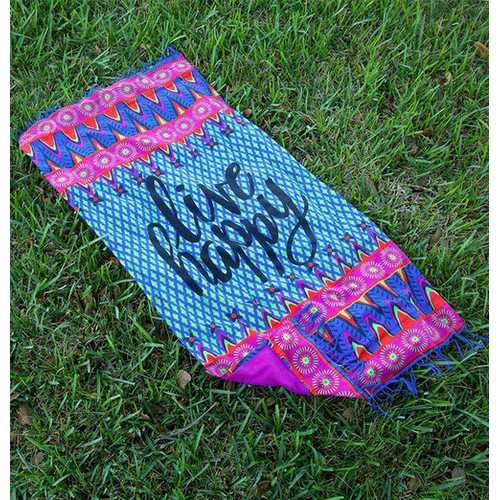 Live Happy Beach Towel Blanket