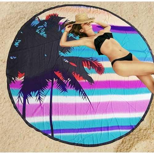 Door Mat Summer Sunlight Beach Palm Tree with Blue Clear Sky Art Print Indoormat Outdoor Mat