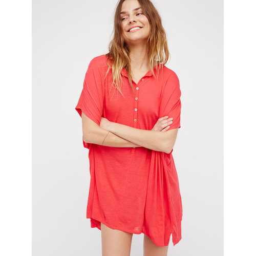 2017 Womens Loose Fit Lace Swimwear Cover-Ups Watermelon Red