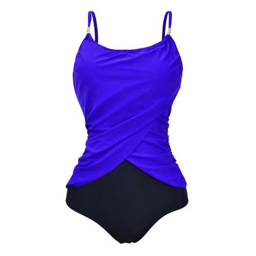 Plus Size Retro Fashion One-piece Swimsuit