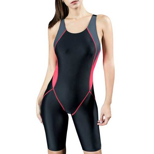 Women Unitard Swimwear Surfing Suit Sports One Piece With Shorts Swimsuit
