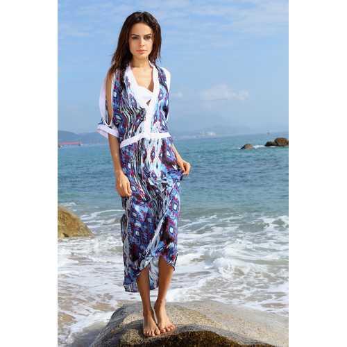 Long cover-up beach dress