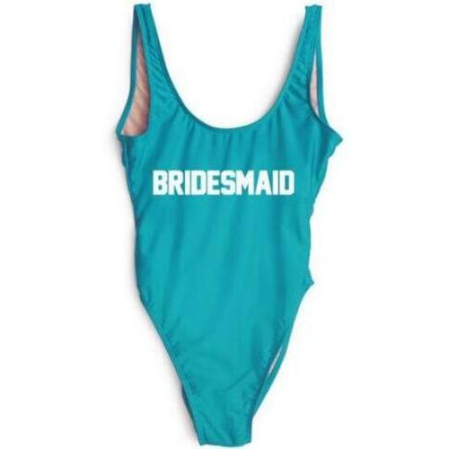 Fashion One Piece Letter Printed Bikini BRIDESMAID