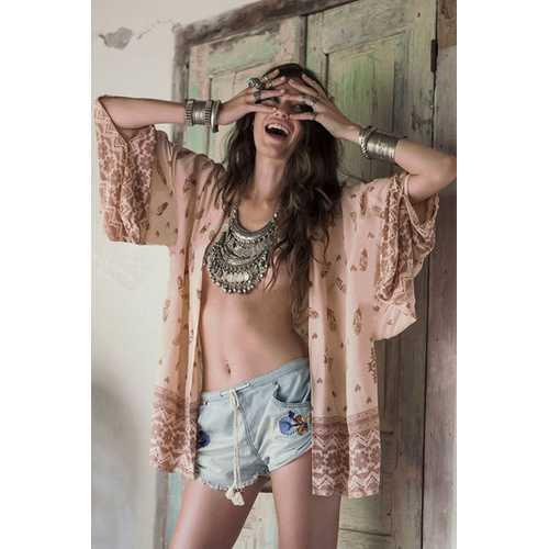 Stylish Women Embroidery Beachwear