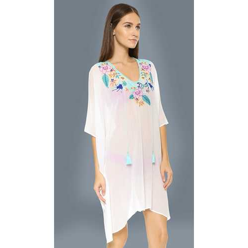 Wholesale Women Embroidery Beachwear White