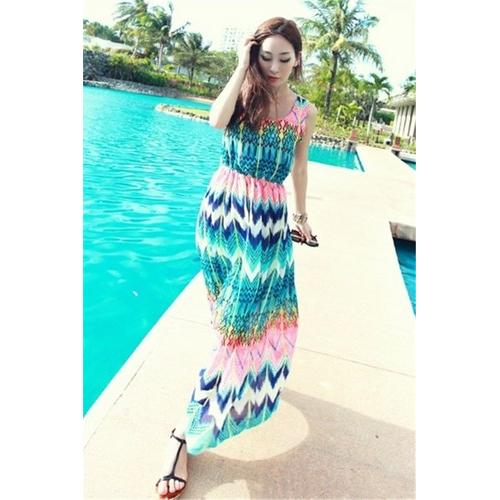 Wholesale chiffon long beach dress