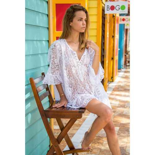 Lace Parquet Beach Dress