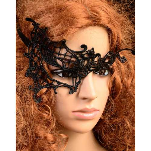 Hot Sale Halloween Cosplay Black Lace Carnival Party Mask