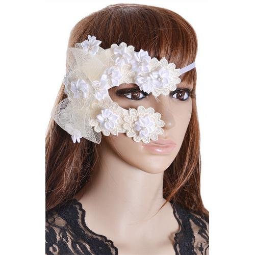 Party Elegant Handmade Flowers Mysterious Night Club Lace Mask