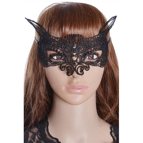 Sexy Handmade Mysterious Party Lace halloween Mask Black