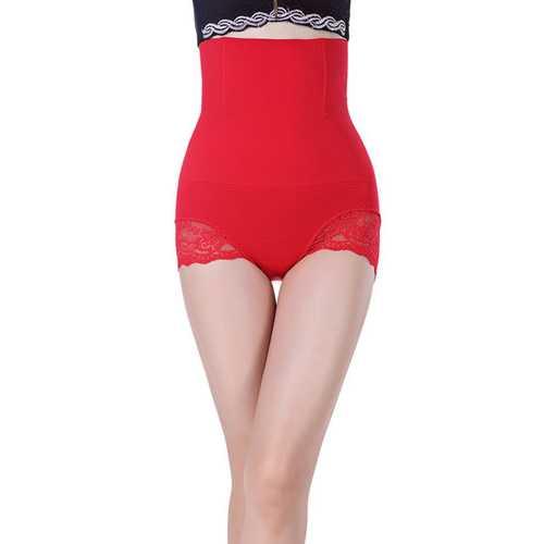 Red SexyWomen Seamless High Waist FlashLift Postpartum Shapewear