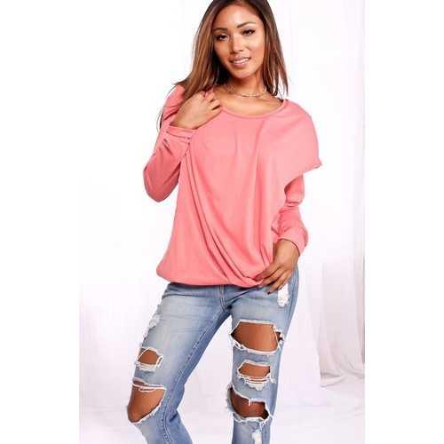 Fashion solid fake two-pcs hoodie