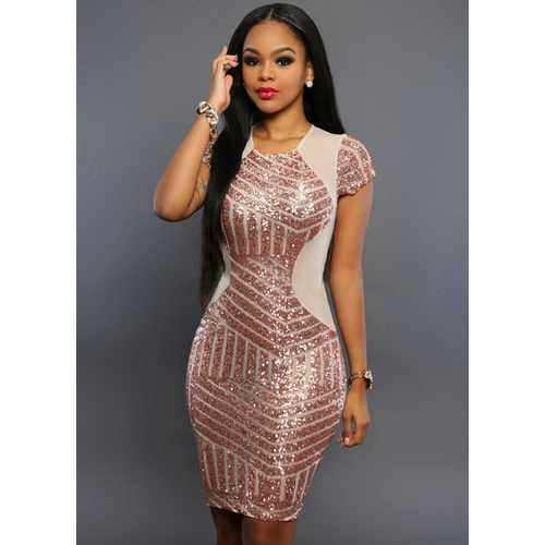 Sexy Hot Sale One Piece Women Embroidery And Sleeveless Bodycon Dress