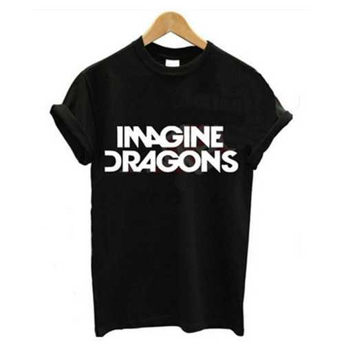 Women's Casual Letter Print T-shirt IMAGINE DRAGONS
