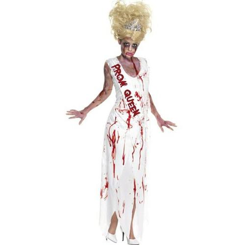 Latest Women Sexy Scary Vampire Cosplay With Blood Halloween Costume Dress With Tape