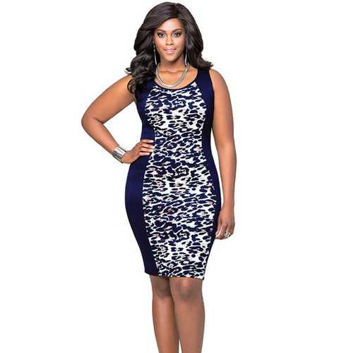 New Arrival Leopard Bodycon Dress Plus Size for Woman