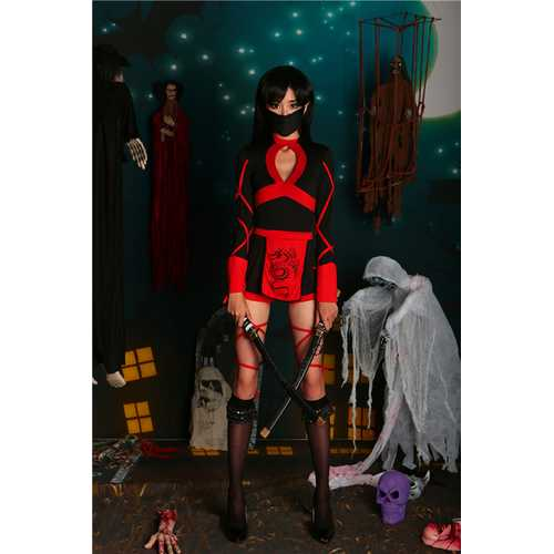 Halloween role-playing ninja warrior costumes and stage costume superman fighter uniforms