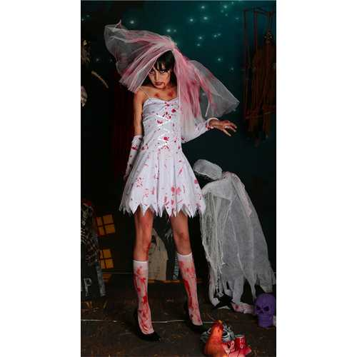 Halloween horror and bloody bride costumes