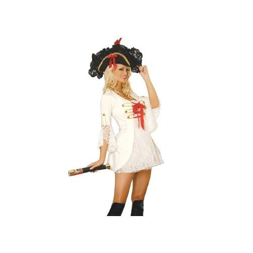 White Sexy Pirate Costume