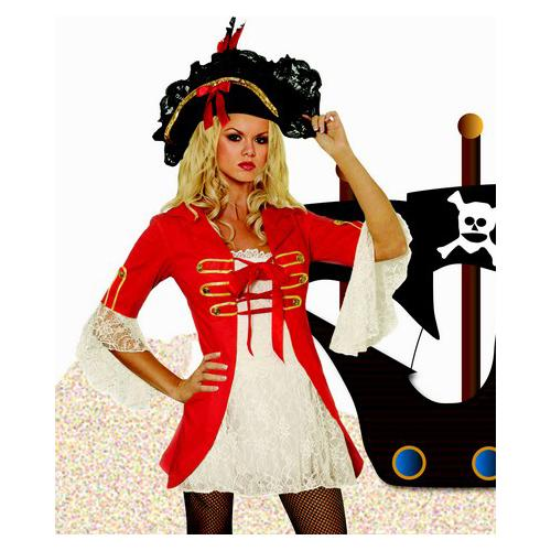 Red Sexy Pirate Costume