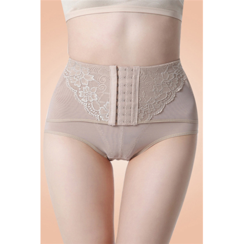 High Waisted Abdomen Underwear Apricot