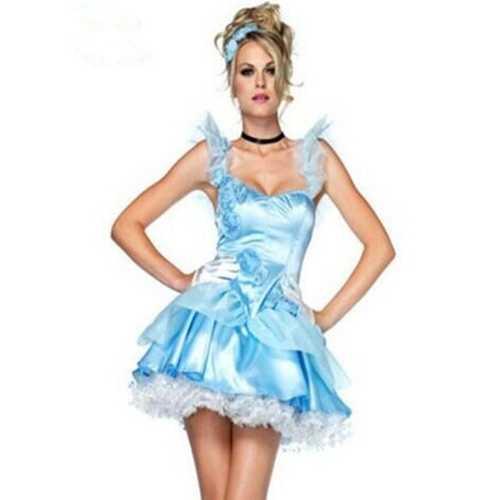 Elegant Girls Princess Costumes Blue