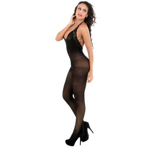 Sheer Halter Crotchless Bodystocking
