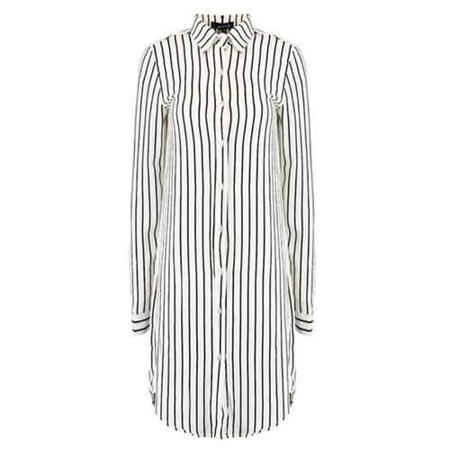 Stylish Long Sleeve Women Striped Shirt