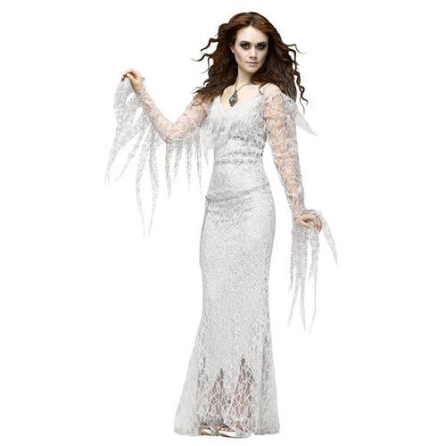 Hot Selling Witch  Cosplay Halloweens Costume Dress White