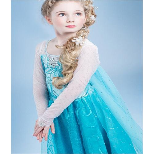 Girls' Animated Frozen Anna and Elsa Halloween Costume