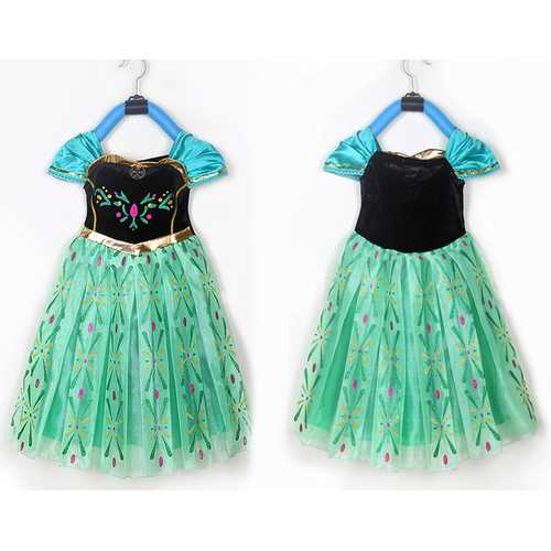 Latest Frozen Dress Children Party Clothings Halloween Costume