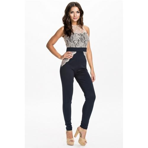 Fashion Jogger Color-Block Sporty Trousers Black & Purple