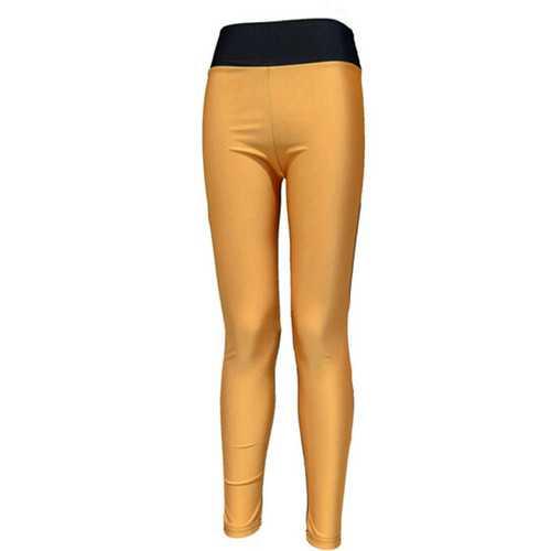 Fashion Jogger Color-Block Sporty Trousers Black & Orange
