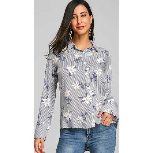 Women Flora printed long sleeve T-shirt