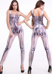 Hot Muscle and Bone Catsuit Women's Jumpsuit