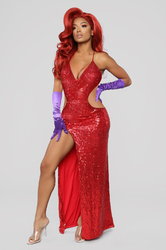 Sexy V-Neck Spaghetti Strap Dress
