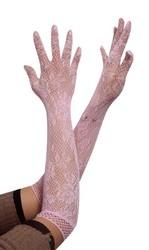 Jacquard weave gloves Pink