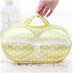 Convenient Bra Storage Bag Yellow