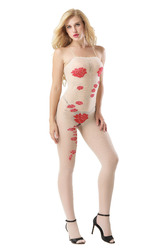 Sheer Sexy Hommock Print Crotchless Baby Stocking