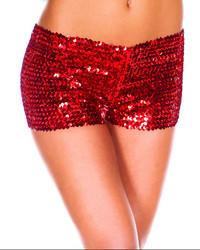 Red Sequin short Panties