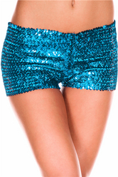 Light Blue Sequin short