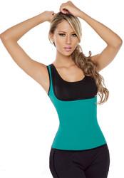 Latex Woman High Waist Body Shaper Green