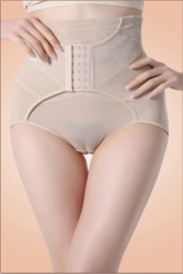 High Waisted White Abdomen Underwear