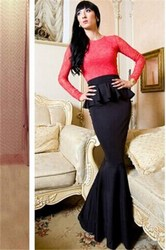 Stylish Women Lace Patchwork Elegant Evening Dress